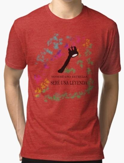 camiseta tejido mixto